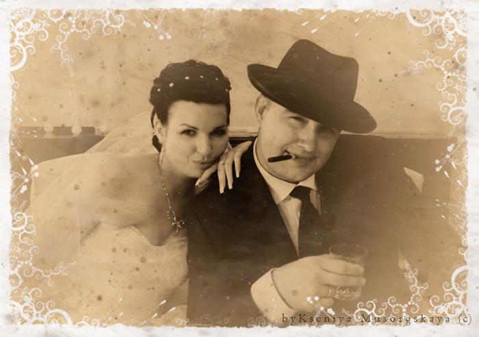 Авторский комментарий: Фотография свадьба в стиле итальянской мафии.