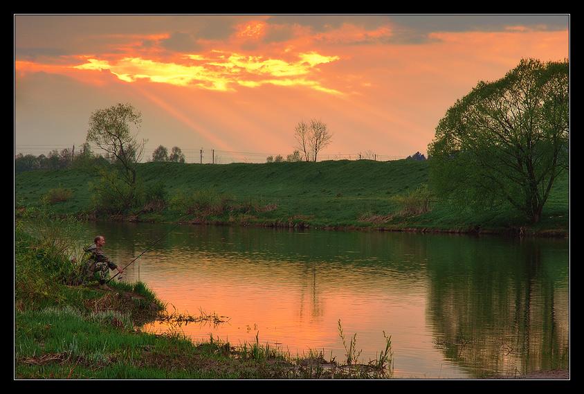 вечерняя платная рыбалка