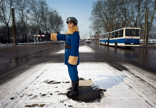 Pyongyang - Traffic Officer. Photo by Mark Edward Harris