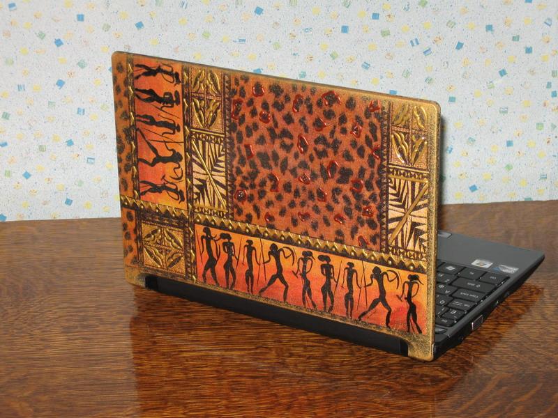 Декупаж ноутбука своими руками 7